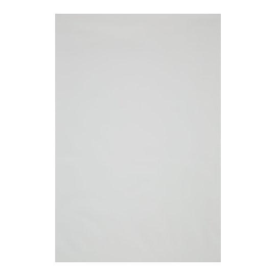 Satiinaluslina kummiga valge