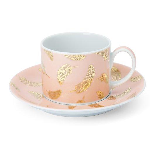 Roosamanna portselanist tee- ja kohvitass alustassiga 20cl