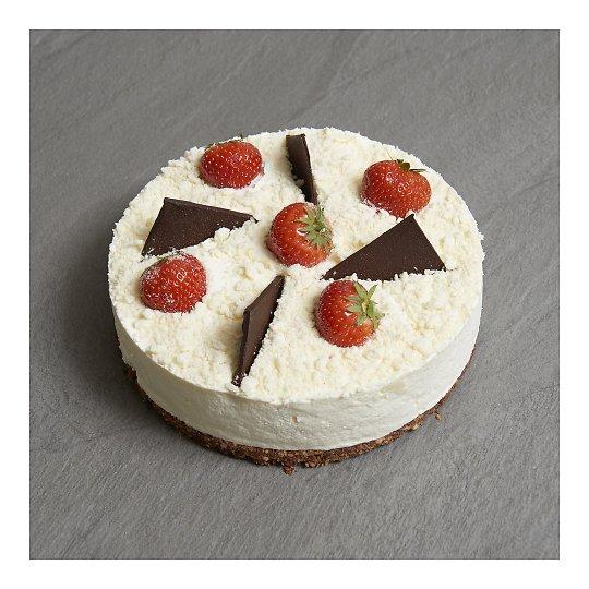Valge šokolaadi toorjuustu tort 1kg Chez André