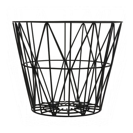 Korv Wire Basket - black - medium
