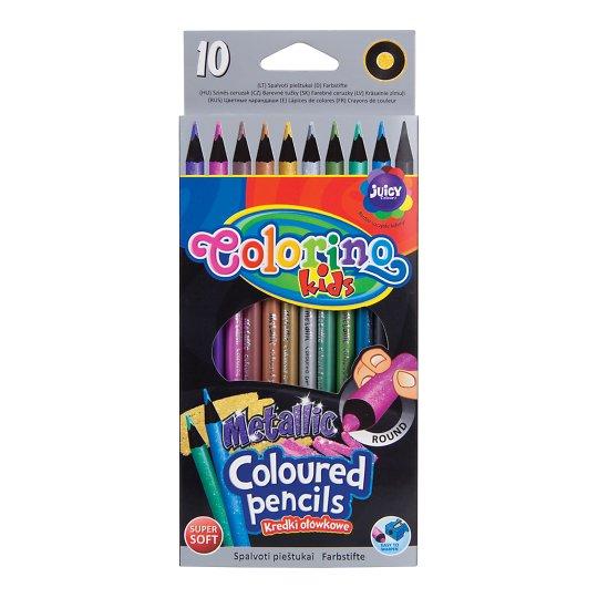 Värvipliiatsid 10 värvi metallik